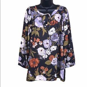 Loft Outlet Sheer Floral Blouse Size L—B4